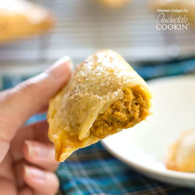 Pumpkin hand pies with a bite