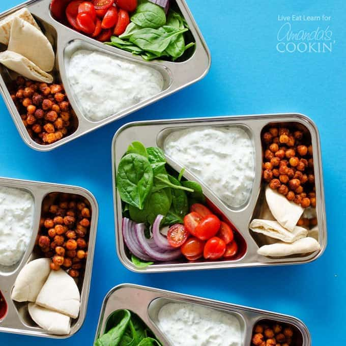 Chickpea gyro lunch boxes a 30 minute meal prep for the whole week chickpea gyro lunch boxes forumfinder Image collections