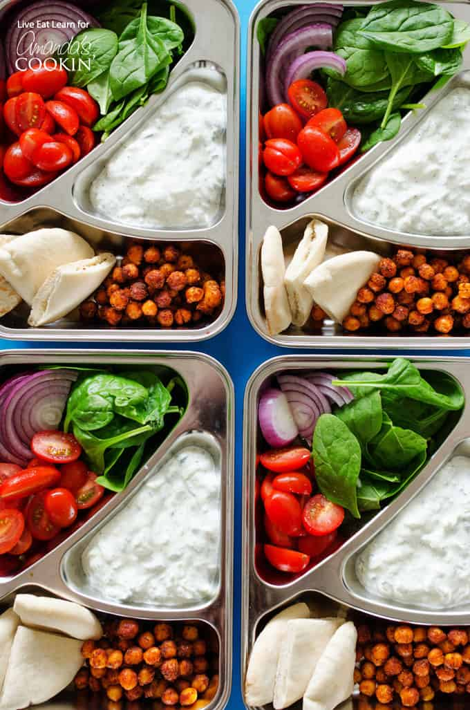 These chickpea gyro lunch boxes are an easy and tasty lunch to keep you energized throughout the week.