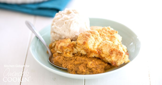 Pumpkin Cobbler: served warm with ice cream making the ...
