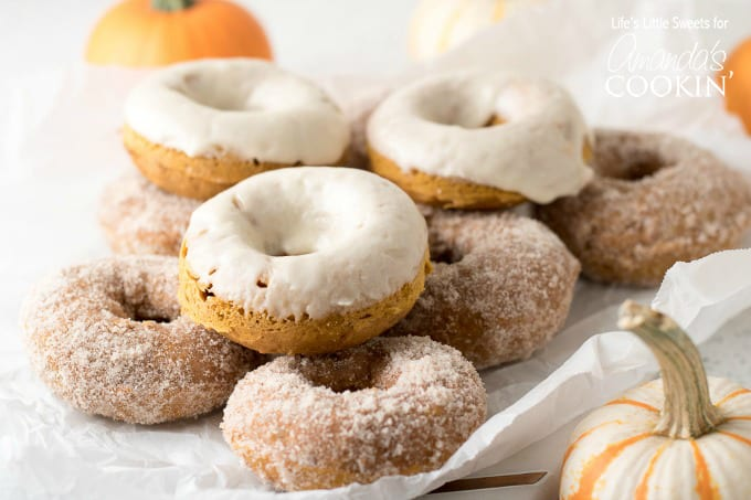 You can't go wrong with these pumpkin spice donuts!