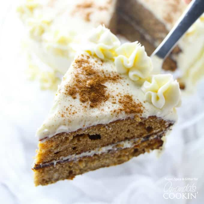 Fall spice cake slice