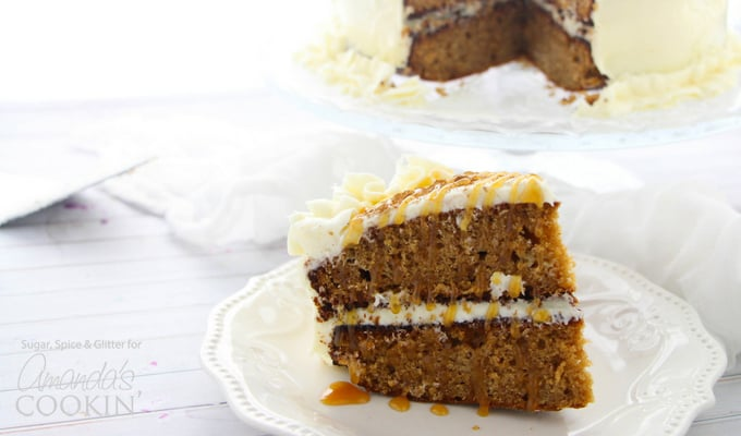 All the perfect flavors of fall, combined into one amazing spice cake!
