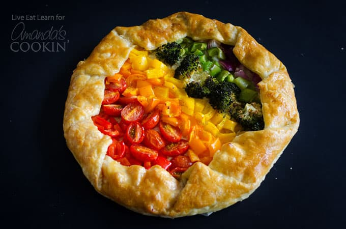 Vegetable Rainbow Tart