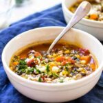 One-Pot Vegetable Rice Soup
