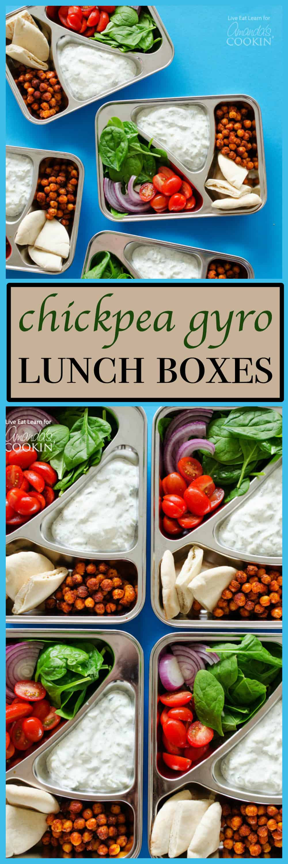 pinterest image with text for gyro lunchboxes