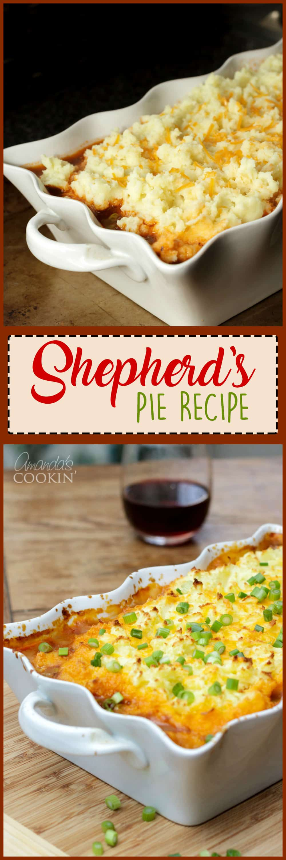This Shepherd's Pie uses fresh ingredients mixed with ground beef to make a deliciously satisfying and filling dinner recipe!
