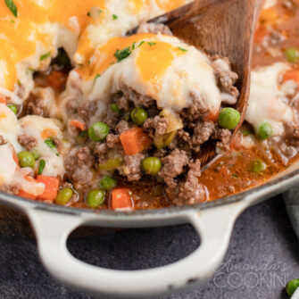 spoon of shepherds pie