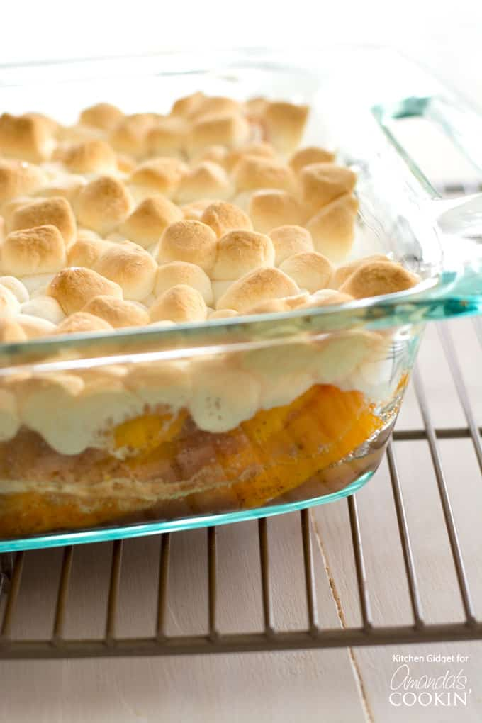 These candied yams with or without marshmallows are a must for Thanksgiving!