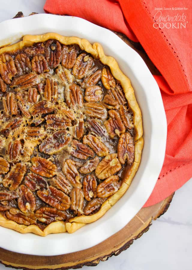Delicious homemade pecan pie recipe for Thanksgiving
