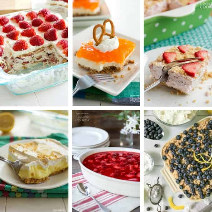 collage of different desserts