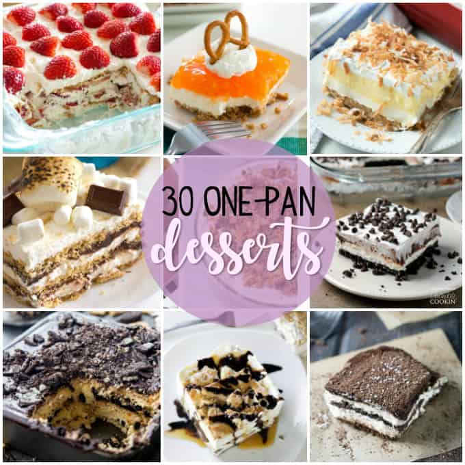 collage of different desserts with text