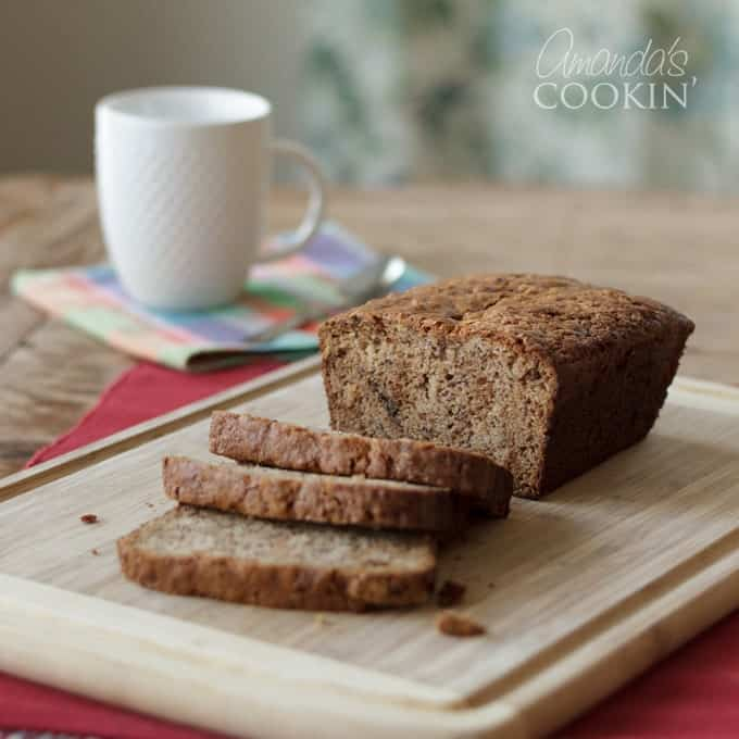We love banana bread, and this sour cream version is one of our favorites. it baked up beautifully and tastes delicious. A must try!
