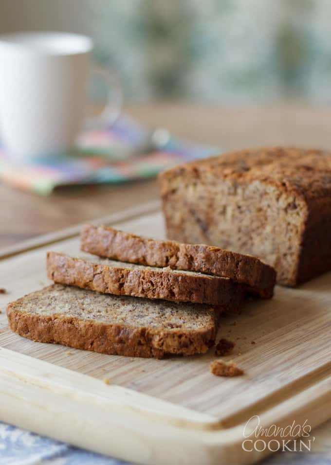 This sour cream banana bread is the best tasting banana bread I've ever made!