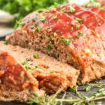 glazed meatloaf slices