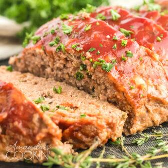 glazed meatloaf slices