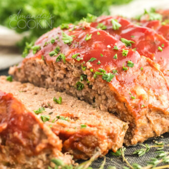 sliced glazed meatloaf