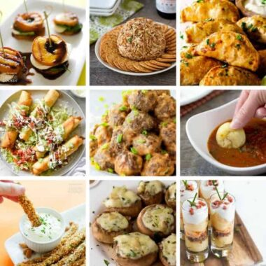 Party Appetizers for any gathering or social event!