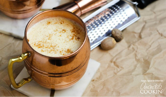 A homemade eggnog cocktail all your holiday guests will love!