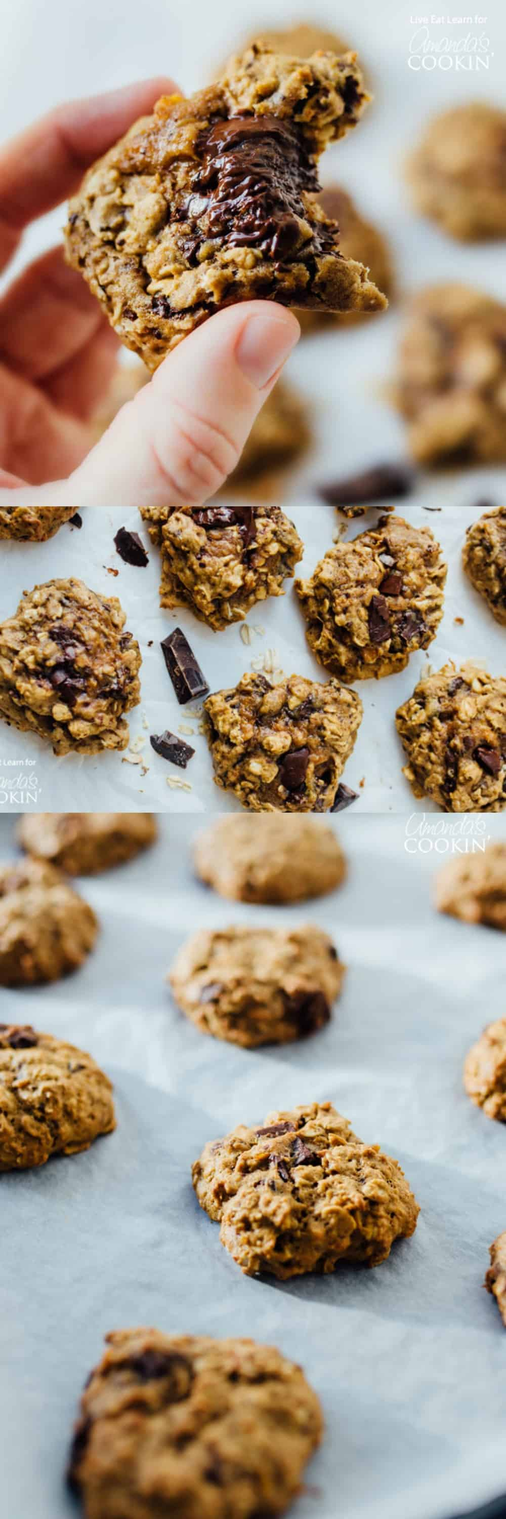 These Sweet Potato Oat Cookies are chocolatey, moist, and oaty, making them perfect for your holiday cookie exchange this year.
