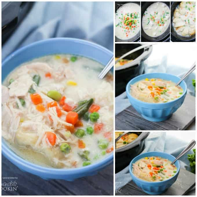 You can't go wrong with a big bowl of Crockpot Chicken and Dumplings!