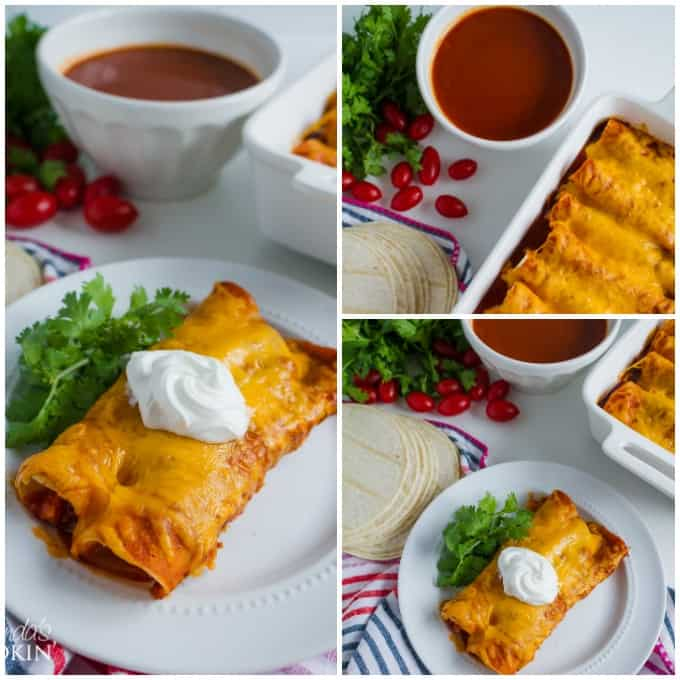 Homemade Enchilada Sauce collage