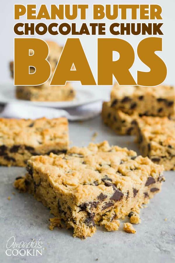 Peanut Butter Chocolate Chunk Bars Recipe