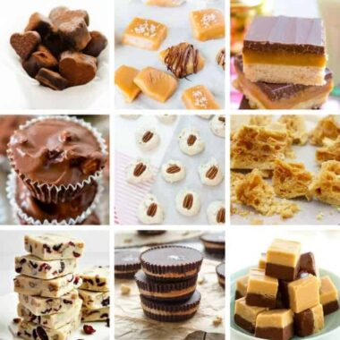collage of different types of homemade candy