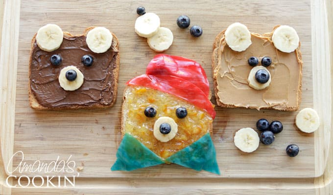 Make teddy bear toasts with Paddington Bear