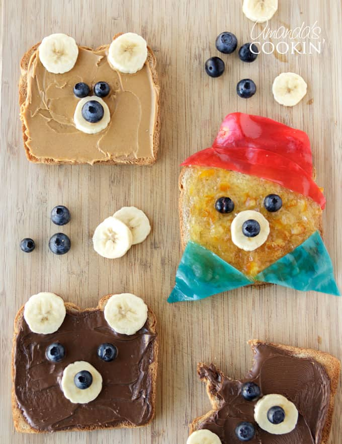 How to make teddy bear toast - starring Paddington Bear!