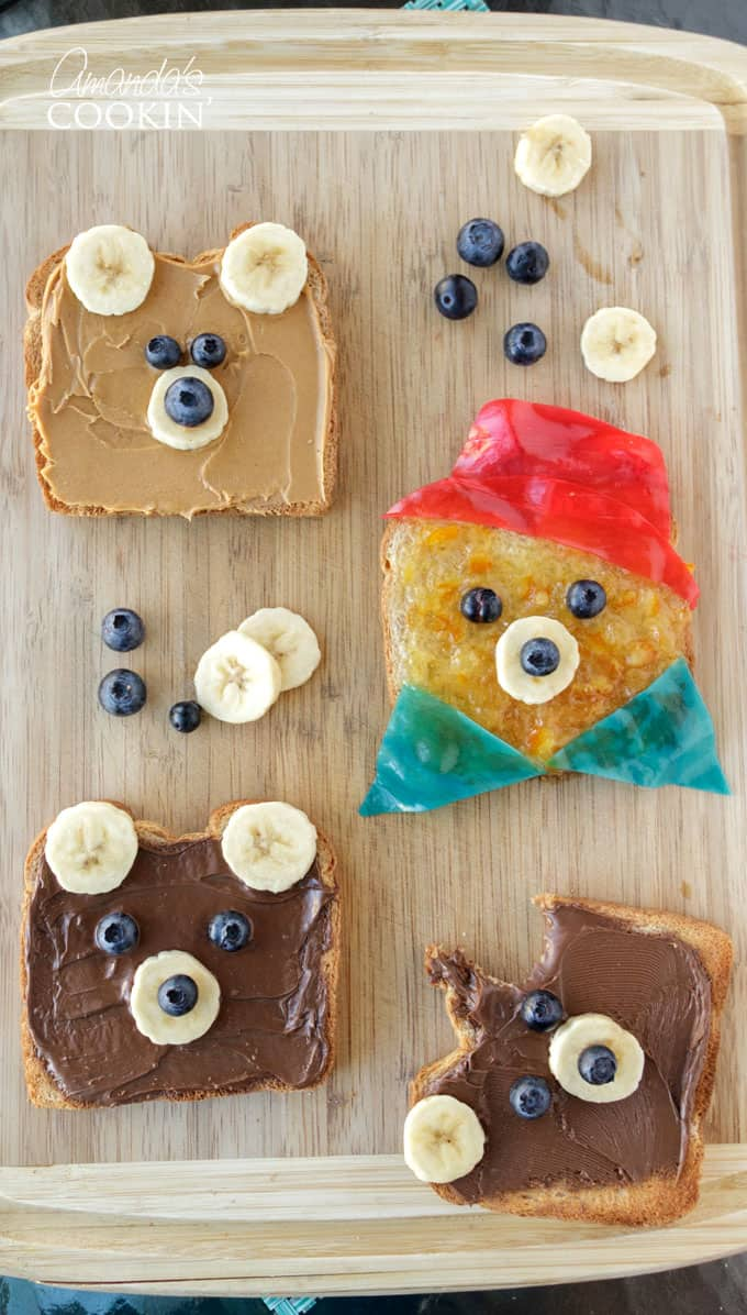 Kids will swoon over this Paddington inspired bear toast, and they will love helping make it as well! Can you think of a better way to eat your toast in the morning? Paddington 2 is in theaters January 12 - don't miss it! #sponsored