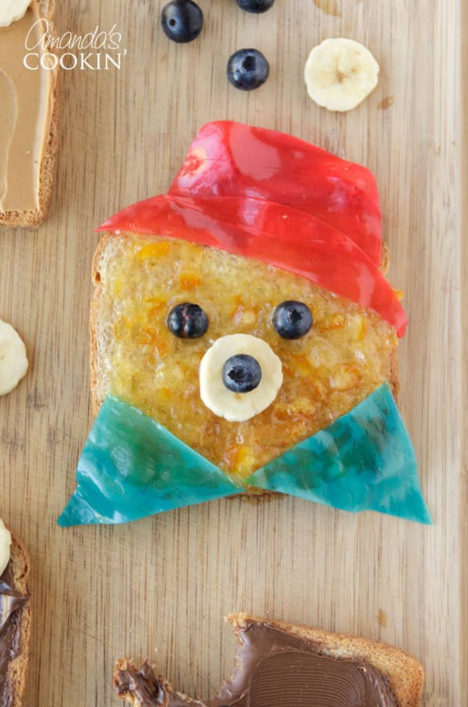 Paddington, who loves marmalade and spreading joy all the way from Peru to London inspired this fun and easy teddy bear toast recipe!