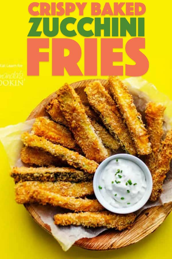 Crispy Baked Zucchini Fries with Dipping Sauce