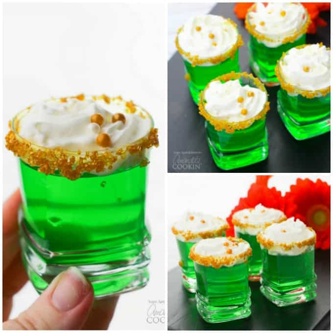 Green Jello Shots for St. Patrick's Day Collage
