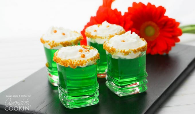 Green Jello Shots for St. Patrick's Day
