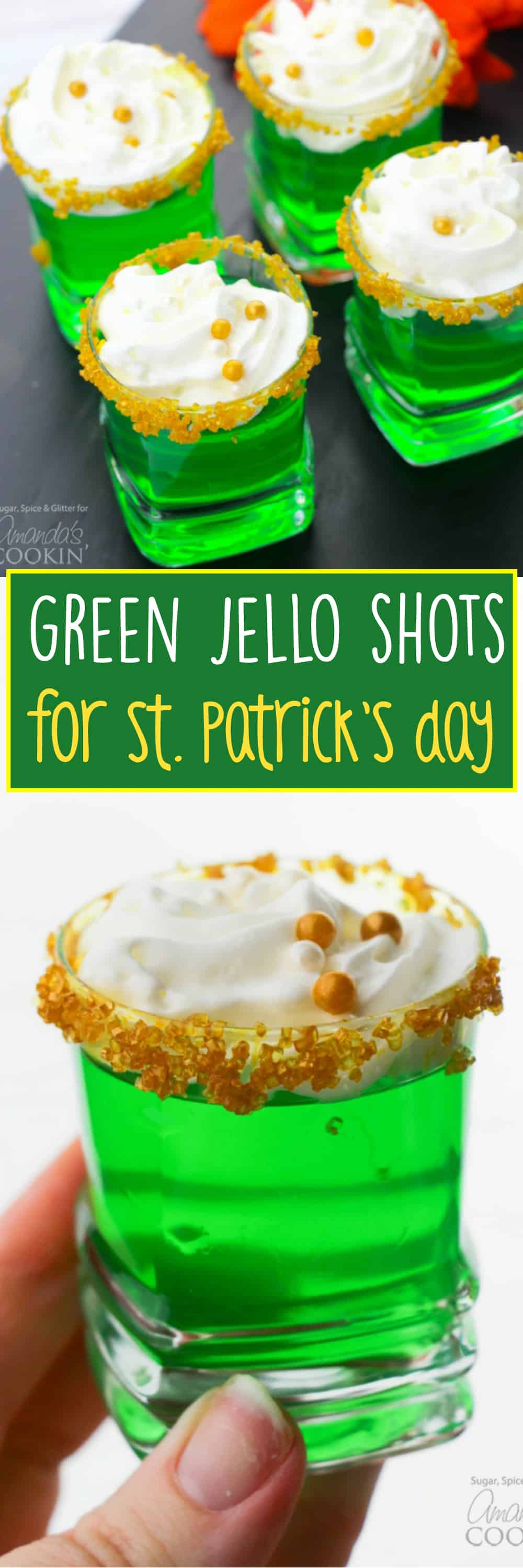 Green Jello Shots: a festive dessert and prep-ahead cocktail!