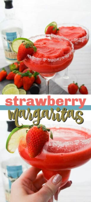 strawberry margaritas pin image