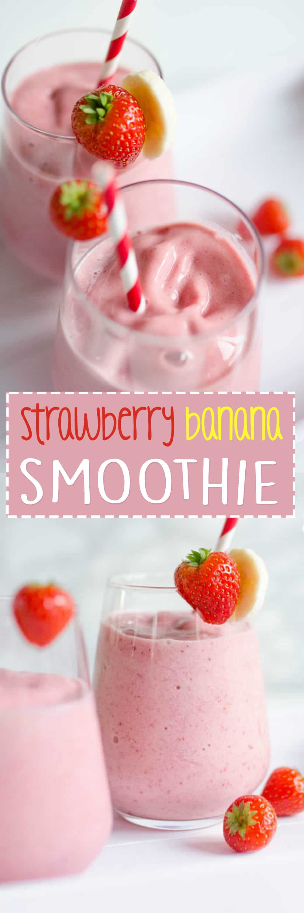 healthy strawberry banana smoothies