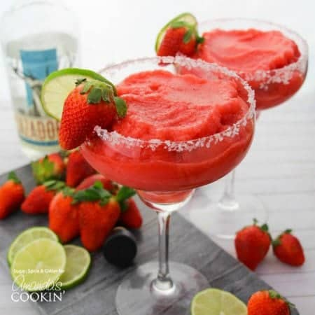 These Strawberry Margaritas are the best way to enjoy tequila! A perfectly balanced cocktail for those who love the taste of tequila without the bite.