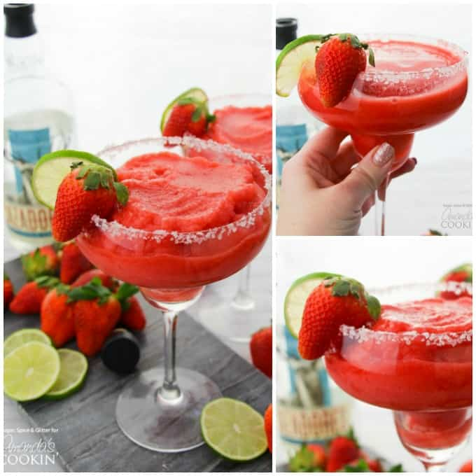 Strawberry Margarita Recipe collage