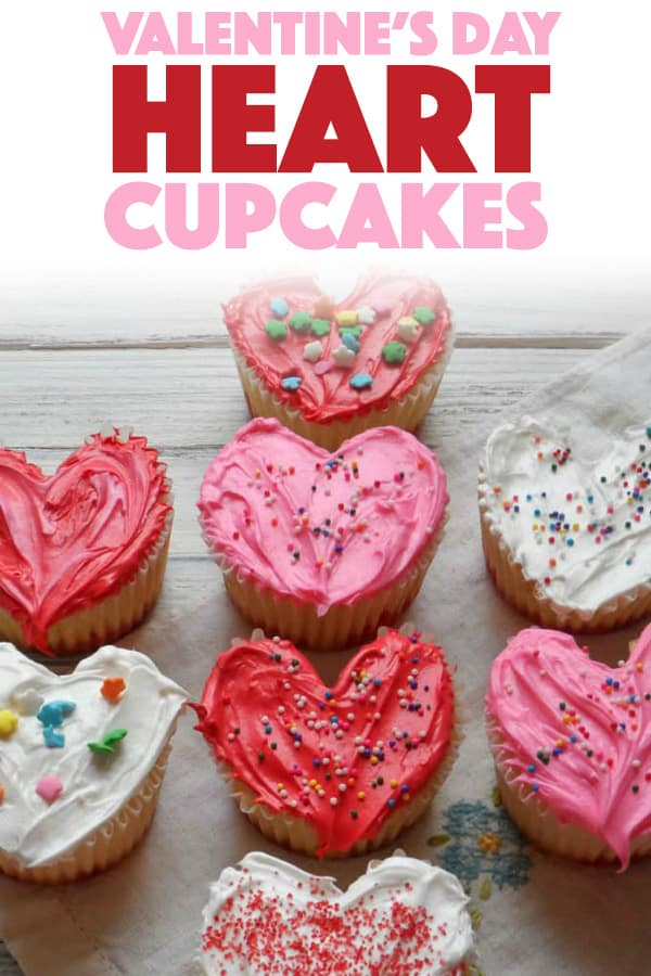Valentine's Day Heart Cupcakes
