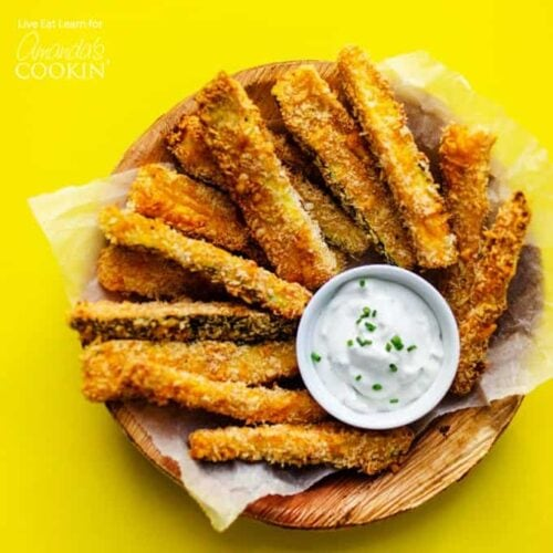 plate of zucchini fries