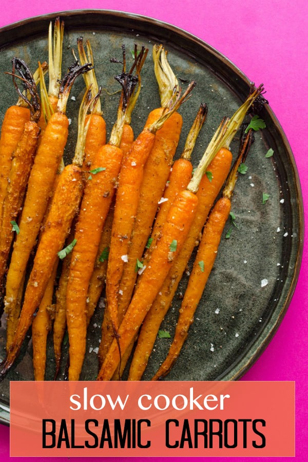 carrots on a black plate