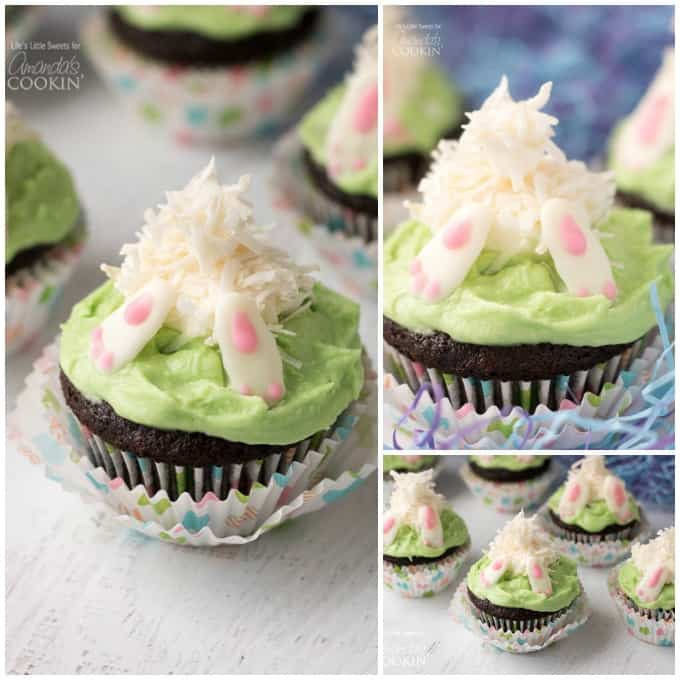 Your guests will love these Bunny Butt Cupcakes!