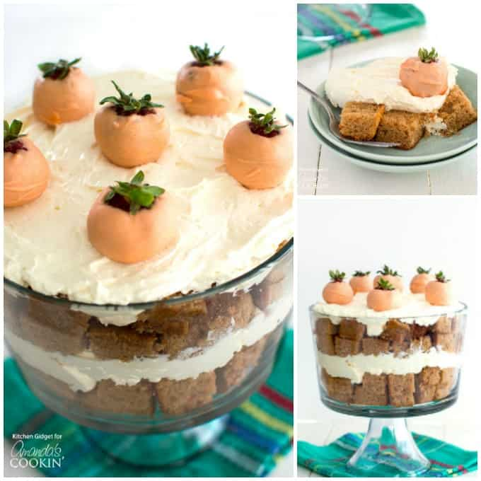 Carrot Cake Trifle for Easter dessert.