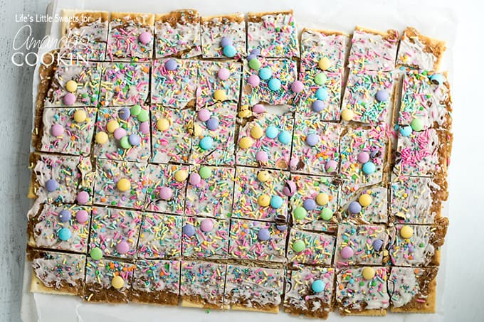 Easter Crack Recipe: festive saltine toffee