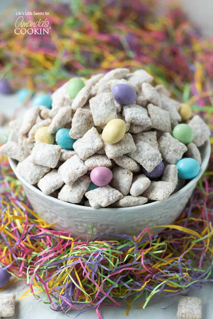 Colorful Easter Muddy Buddies snack