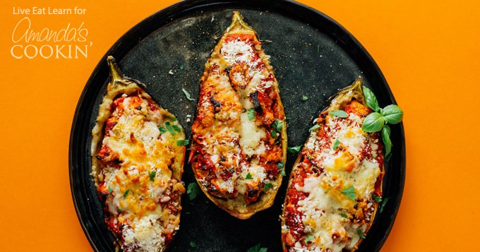 Eggplant Parmesan Delicious Stuffed Baked And Topped