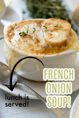 french onion soup pin image