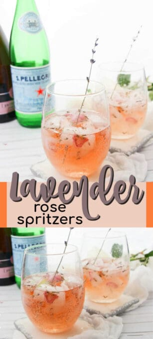 lavender rose spritzers pin image